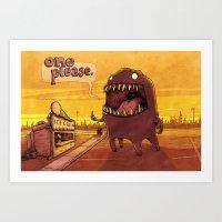 One Please Art Print