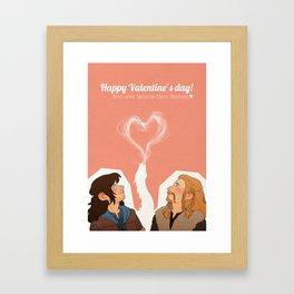 Happy Valentine's Day! Framed Art Print