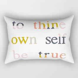 be true Rectangular Pillow