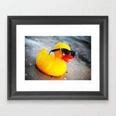 Beach Duck Framed Art Print