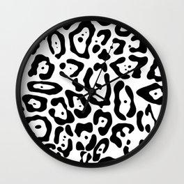 Jaguar seamless pattern Wall Clock