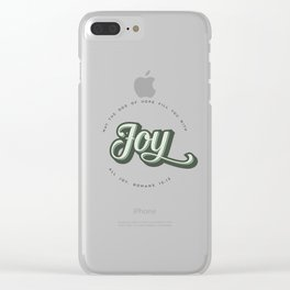 May the God of Hope Fill You With All Joy Clear iPhone Case