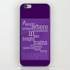 Thundering Problems And Whispering Solutions iPhone & iPod Skin