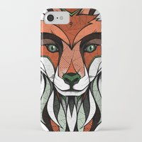 andreas preis iPhone & iPod Cases featuring Fox // Colored by Andreas Preis