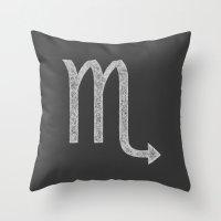 scorpio Throw Pillows featuring Scorpio by David Zydd