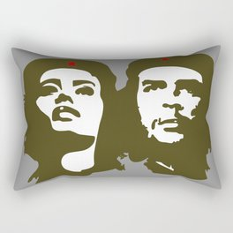 Che Guevara and the woman he loved Rectangular Pillow