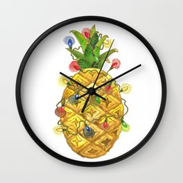 The Christmas Pineapple Wall Clock
