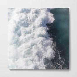 sea - midnight blue wave Metal Print