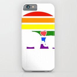 Gay Mom Love Pride LGBT Rainbow Flag Elephant Gay Mom Gift T-Shirt iPhone Case