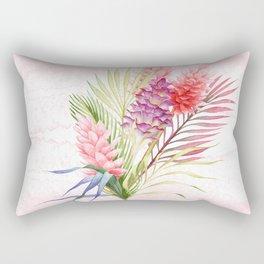 Tropical Watercolor Flowers Rectangular Pillow