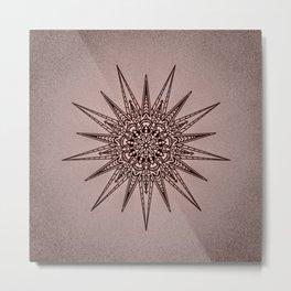 Geometric Mandala Metal Print
