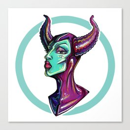 Dark Diva – Maleficent Canvas Print