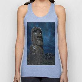 A Moai sculpture on the Easter Island. Unisex Tank Top
