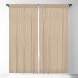 Pantone Hazelnut Double Scallop Wave Pattern Blackout Curtain