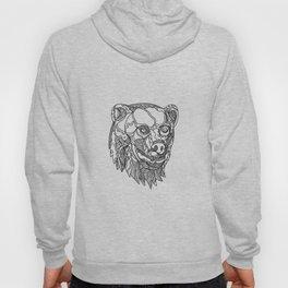 Brown Bear Head Doodle Hoody