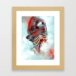 the head; the heart Framed Art Print