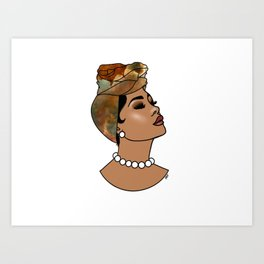 Momma's Pearls Art Print