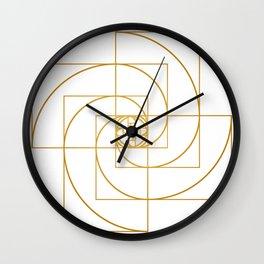 Golden Pinwheel Wall Clock
