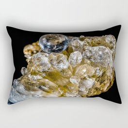 Crystal Ball Resting on quartz Crystals Rectangular Pillow