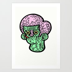 Just chewing Art Print