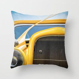 Yellow Truck Throw Pillow