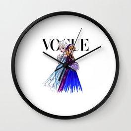 Princess Anna and Elsa shirt Wall Clock