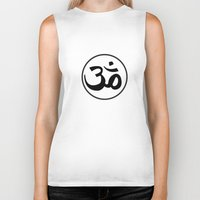 om Biker Tanks featuring Om by Albino Chewbacca