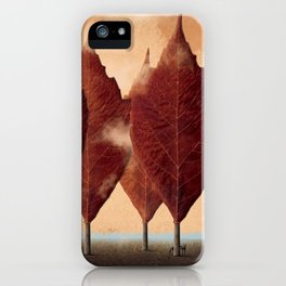 Lupo d'autunno iPhone Case