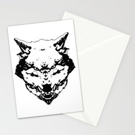 WereWolf Face King - 02 B&W Stationery Cards