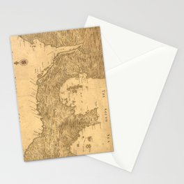 Vintage Map of Panama (1800) Stationery Cards
