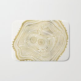 Peachleaf Willow – Gold Tree Rings Bath Mat