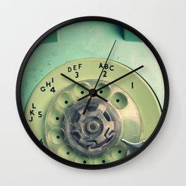 Rotary Telephone Wall Clock