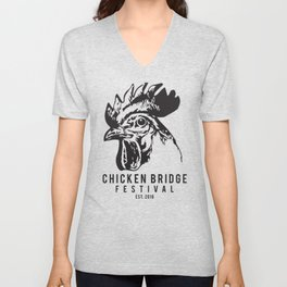 Chicken Bridge Festival, 2018 Unisex V-Neck