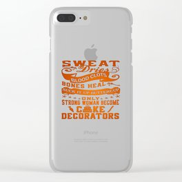 Cake Decorator Woman Clear iPhone Case