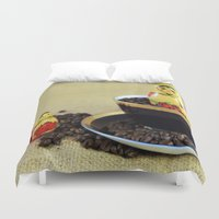 russian Duvet Covers featuring Russian Coffee by Falko Follert Art-FF77