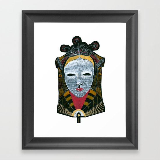 Black MASK Framed Art Print