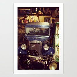 Nostalgic mechanics garage Art Print