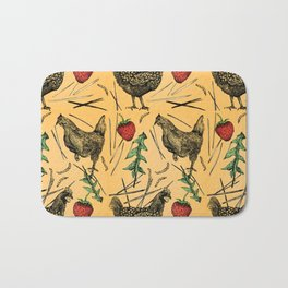 Charming Chickens Bath Mat