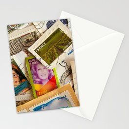 France Photography - A Pile Of Postage Stamps Stationery Cards