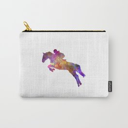 Horse show 07 in watercolor Carry-All Pouch