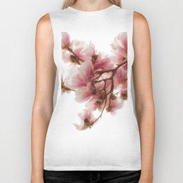Magnolia tree, pretty pink blooms Biker Tank