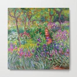 Claude Monet - The Iris Garden At Giverny Metal Print
