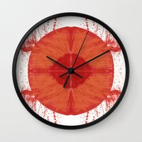u2 Wall Clocks featuring Sunday bloody sunday by Art Pass