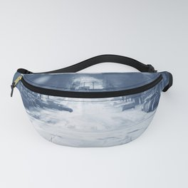 Old Time Village Scenery Fanny Pack
