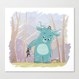 Friendly Creature Canvas Print