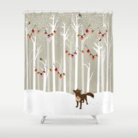 jon snow Shower Curtains featuring December by Kakel