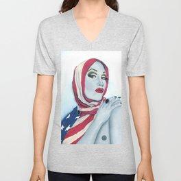 American Ladyboy Unisex V-Neck