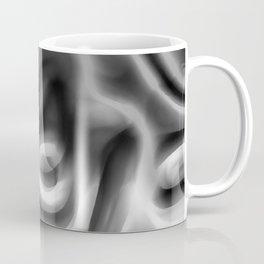 Retro 70's Blurred Abstract Pattern Greyscale Coffee Mug