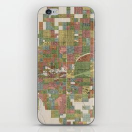 Vintage Map of Spokane WA (1910) iPhone Skin