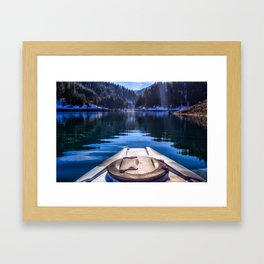 Kayaking in McCloud Northern California Framed Art Print
